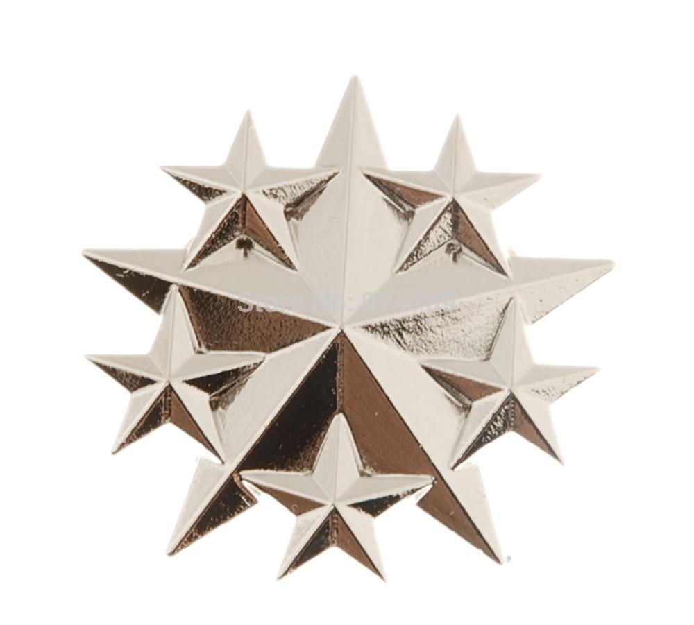 US UNITED STATES AIR FORCE SIX STAR GENERAL RANK METAL HAT BADGE -34054