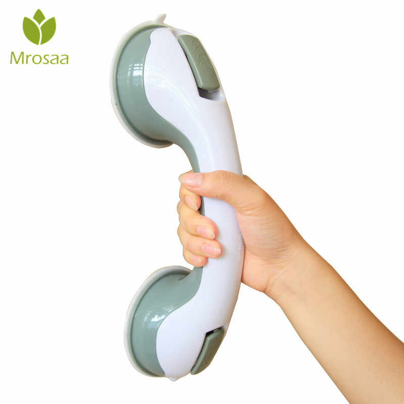 HOT!! Mrosaa Bathroom Grab Toilet Handle Handrail Grip SPA Bath Shower Tub Safety Helping Vacuum Suction Cup Anti Slip Support