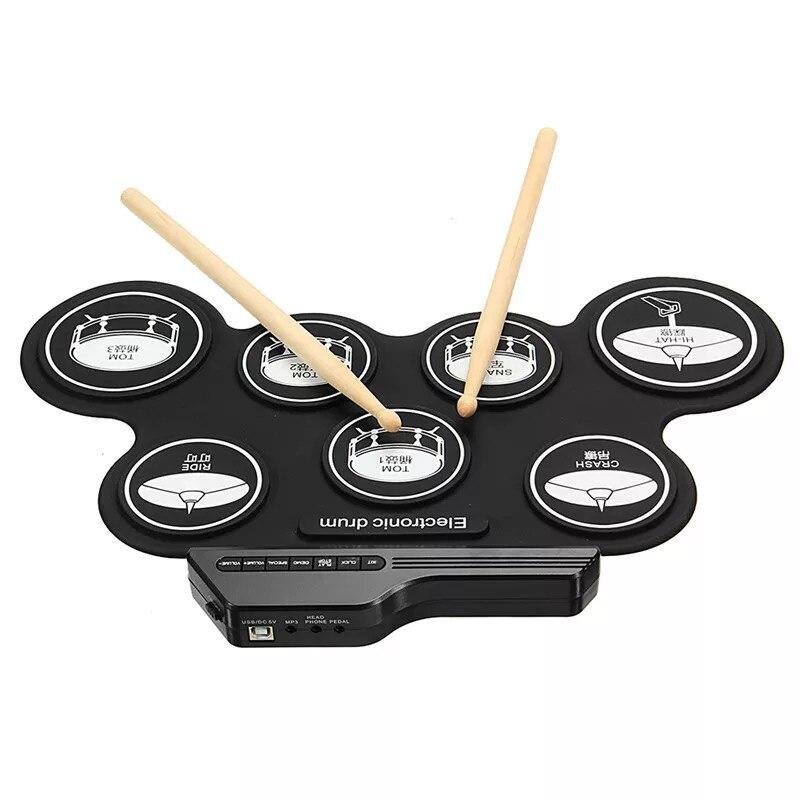 Dj-equipment Roll Up Faltbare Trommeln Set Zu Kultivieren Kind Kid Interesse Gute Ton Usb Hand Rolle Silica Gel Elektronische Drum Kit Dj Ausrüstung