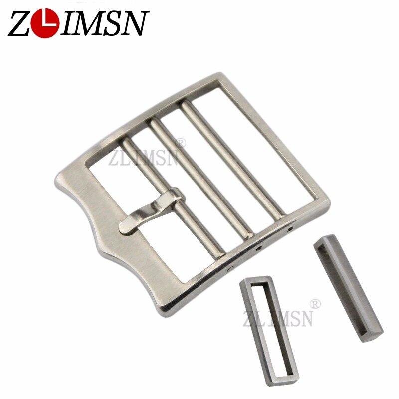 97f4ffb3fbf11b ZLIMSN 22mm Cinturini Fibbia D argento Solido Acciaio Guarda Chiusura E  cinghia a Laccio Accessori