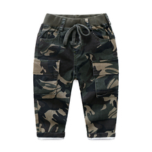 2018 New Autumn Spring Kids Boys Pants Trousers Clothes Casual Cotton Elastic Waist Camouflage Pants For Boys Children Clothing