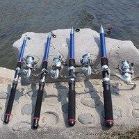 OUTAD 1.8M 2.1M 2.4M 2.7M 3M Telescopic Fiberglass Fish Pole Folding Fishing Rod Adjustable Fish Rod With 200 Fishing Reel