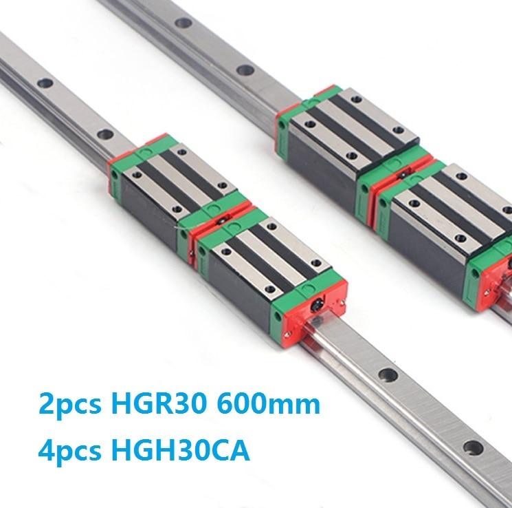 China Made 2pcs Linear Guide Rail HGR30 -L 600MM + 4pcs HGH30CA Or HGW30CC Linear Sliding Block Carriage for CNC router China Made 2pcs Linear Guide Rail HGR30 -L 600MM + 4pcs HGH30CA Or HGW30CC Linear Sliding Block Carriage for CNC router