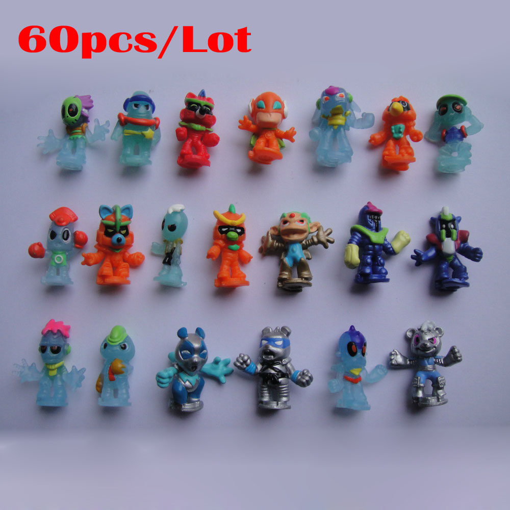 Fast Delivery! (60pcs/Lot) Funny Mini Toys fingure doll children action fingure toys home/house decoration factory price