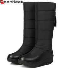 c46b9aafec2 MoonMeek Plus size 35-44 fashion women boots Keep warm comfortable winter  snow boots Down