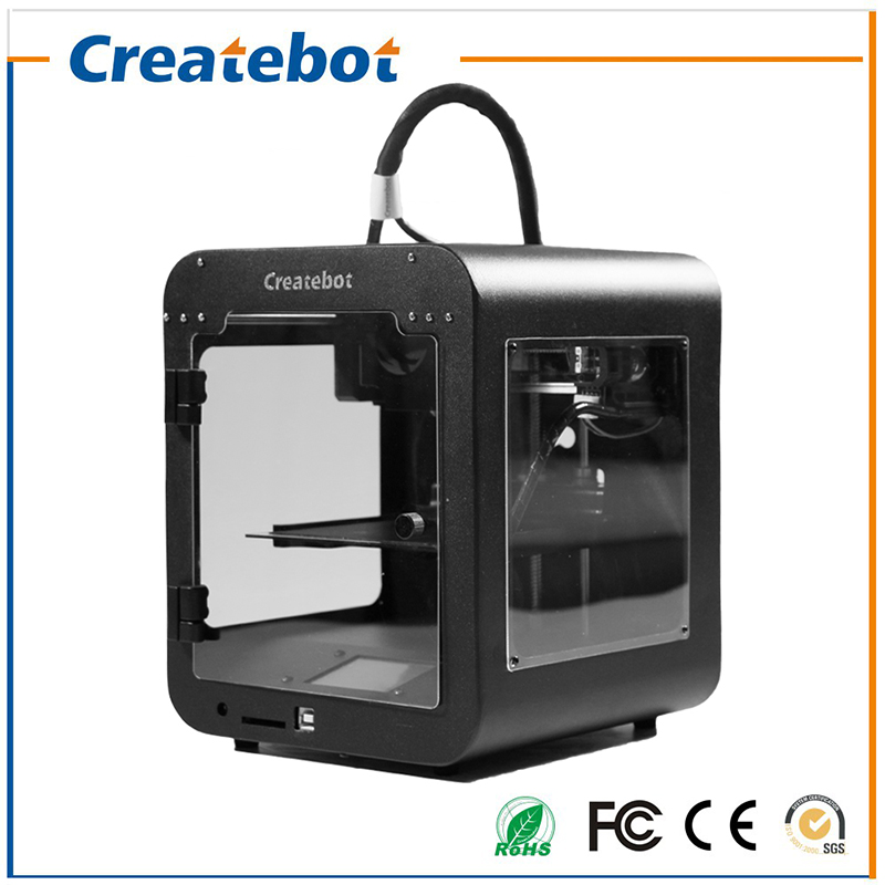 Createbot 3D Printer Print Size 85*80*94mm High Precision Small Super Mini 3D Printer Kit with 1roll filament+1GB SD card Gift high precision createbot super mini 3d printer no assembly required metal frame impresora 3d 1roll filament 1gb sd card gift