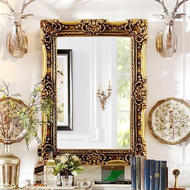 Odd ranks yield home living room European-style luxury bathroom wall murals Kaiser PU decorative mirror C section Q