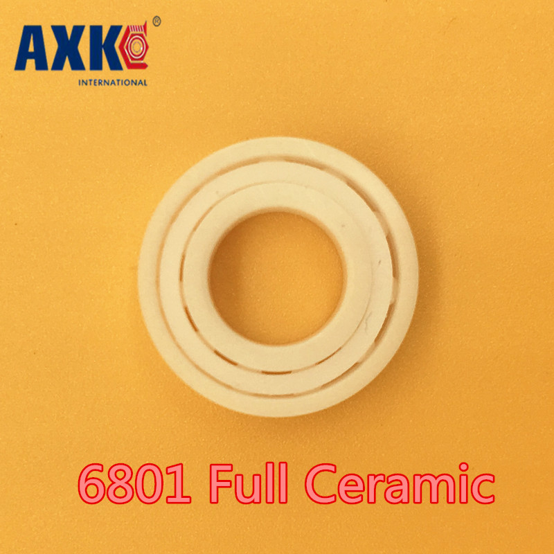 Axk 6801 Full Ceramic Bearing ( 1 Pc ) 12*21*5 Mm Zro2 Material 6801ce All Zirconia Ceramic 6801 Ball BearingsAxk 6801 Full Ceramic Bearing ( 1 Pc ) 12*21*5 Mm Zro2 Material 6801ce All Zirconia Ceramic 6801 Ball Bearings