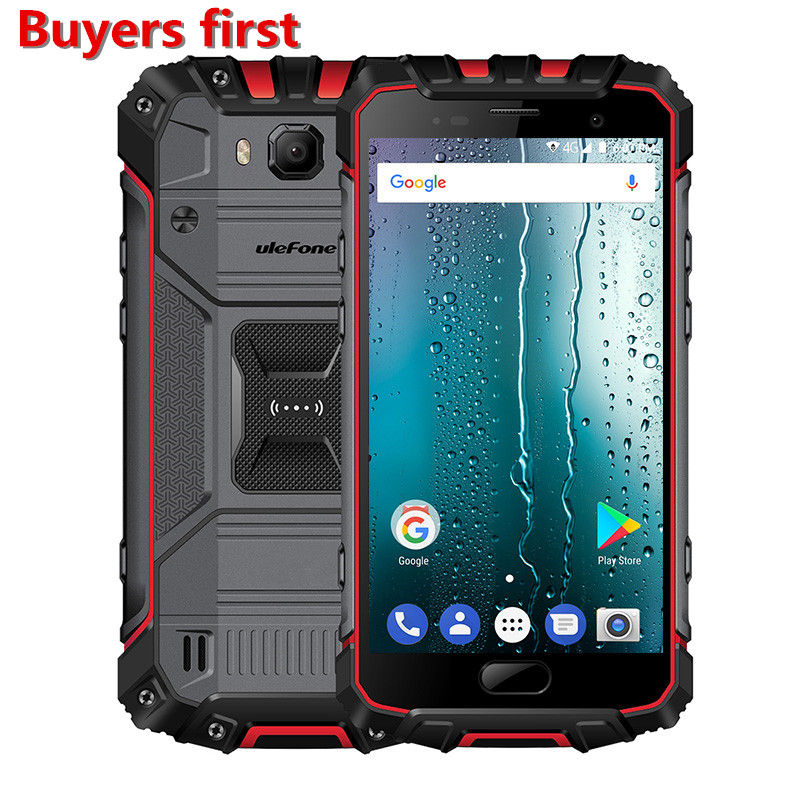 Ulefone Панцири 2 S Водонепроницаемый IP68 мобильный телефон 5.0 &#171;FHD 4 ядра android 7.0 Оперативная память 2 ГБ Встроенная память 16 ГБ 4 г <font><b>NFC</b></font> PTT <font><b>OTG</b></font> 4700 мАч смарт&#8230;