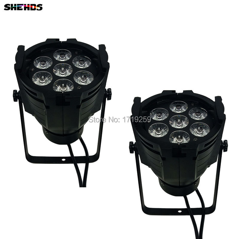2pcs/lot LED Par Can 7x12W Aluminum alloy LED Par RGBW 4in1 DMX512 Wash dj stage light disco party light Dj Lighting free shipping 6pcs lot wash disco dj led stage par can light stand indoor par rgbw 54x3w wash lamp for party christmas