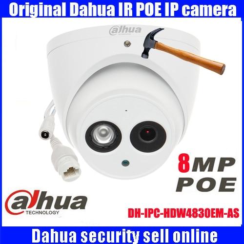 все цены на DHI-IPC-HDW4830EM-AS Original Dahua Dome IR 50m security camera IP67 8MP HD waterproof camera IPC-HDW4830EM-AS онлайн