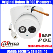 DHI-IPC-HDW4830EM-AS Original Dahua Dome IR 50m security camera IP67 8MP HD waterproof camera IPC-HDW4830EM-AS