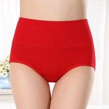 SEEDRULIA Women's briefs Comfortable Cotton High waist underwear Women Sexy Ultra-thin Panties