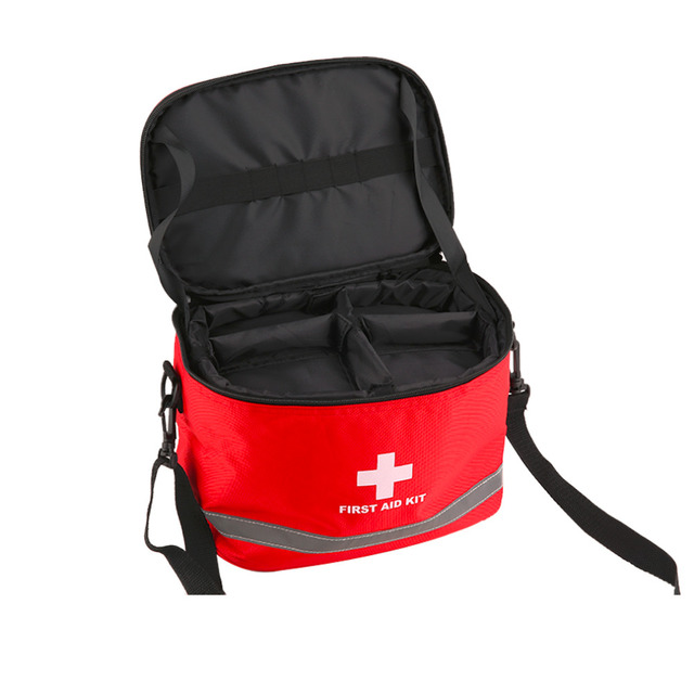 Large Red Nylon First Aid Kit