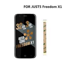 5.0 inch Voor JUST5 Vrijheid X1 Touch Screen Digitizer Glas Sensor + LCD Display Scherm voor JUST5 Vrijheid X1 mobiele telefoon