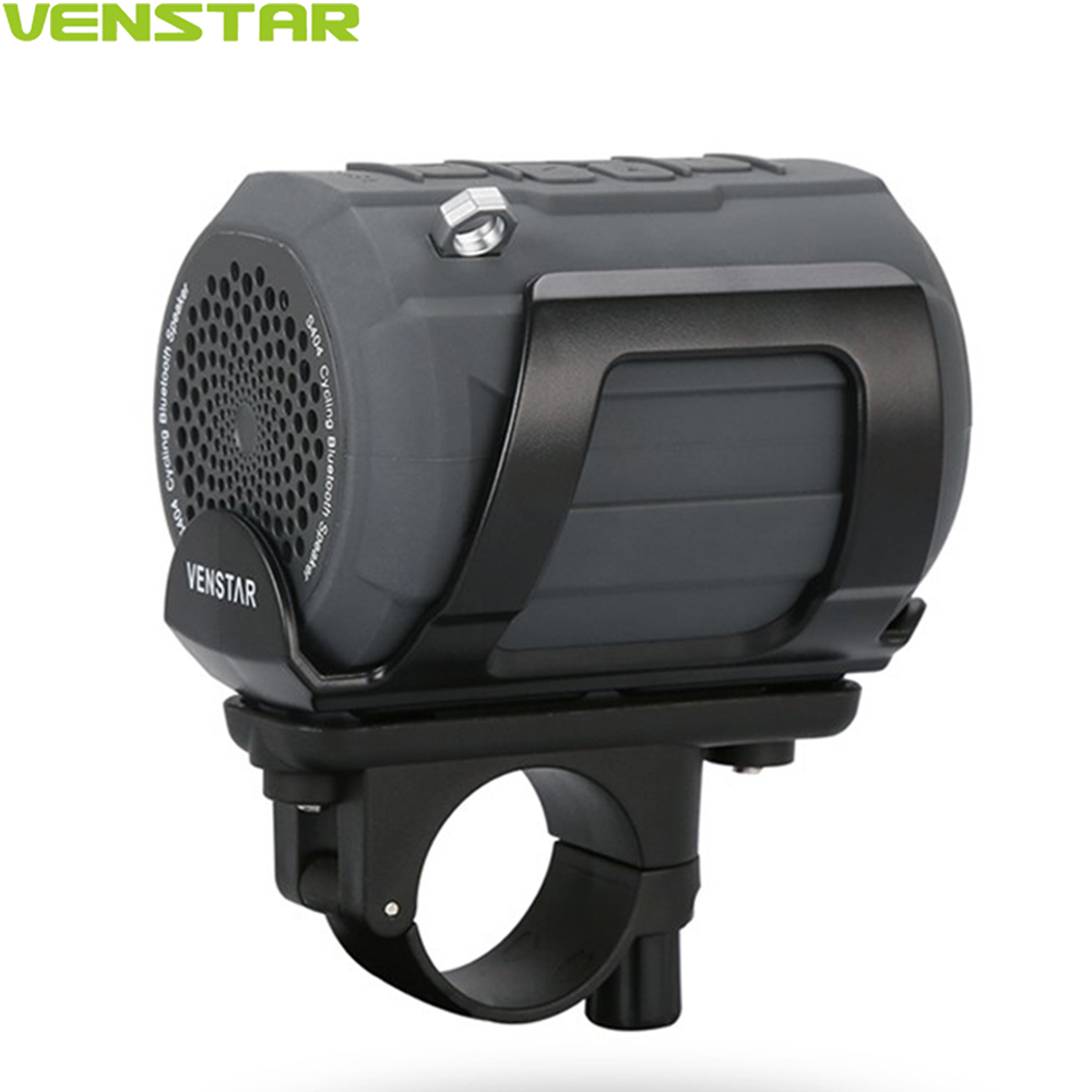 VENSTAR S404 Sport Portable Bluetooth Speaker with Remote Controller & Metal Hook Loop for Outdoor Sports Travel Bicycle Cycling