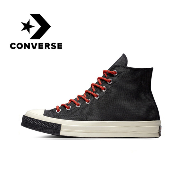 Original Converse  Skateboarding Canvas Shoes 1970s Unisex Classic Canvas High Top New Comfortable Support Shock-absorbant  2019