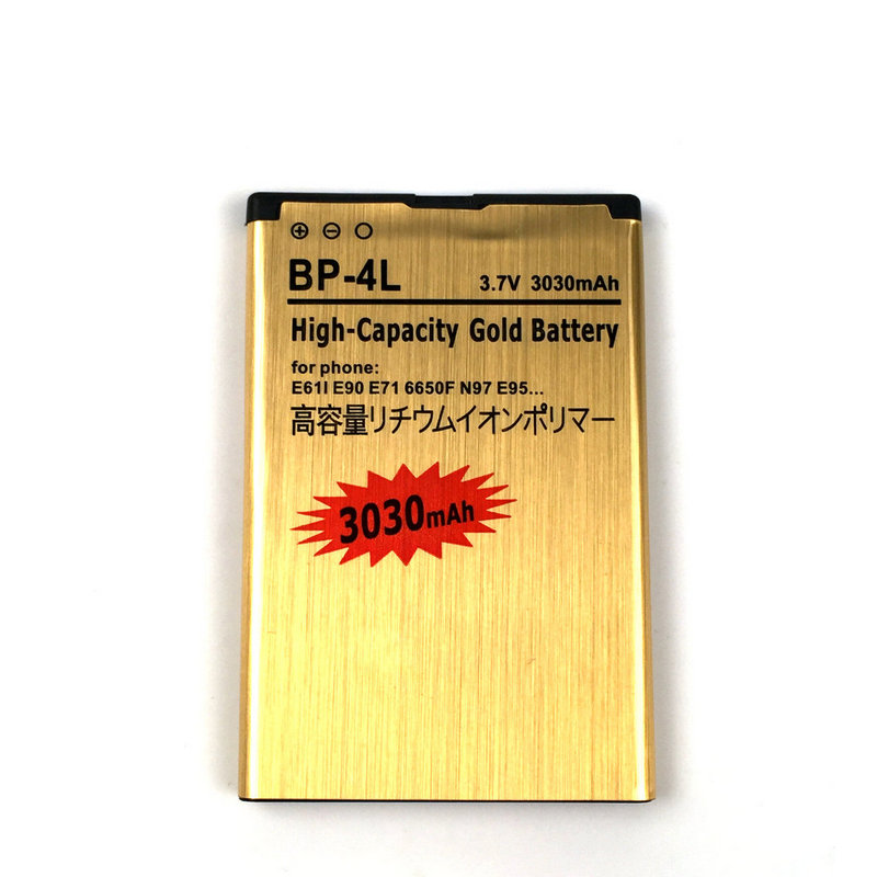 New 3030mAh BP-4L Rechargable Battery Replacement For <font><b>Nokia</b></font> E61i E90 <font><b>6650</b></font>/F/T E63 E72 E73 E95 6790 E52 E55 N97i N810 image