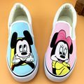 New 2017 Spring Retail Hot Sales Women's Shoes Cartoon Anime Hand Painted Canvas Shoes Female Pedal Shoes Loafers Zapatos Mujer