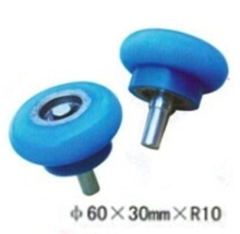 4PCS/LOT M10-60x30MxR10  Woodworking Wrapping Machine Silicon Rubber wheels Round Step Bearing Wheel