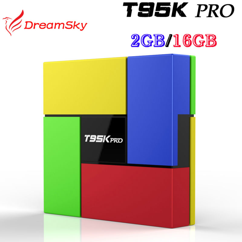 ФОТО 5pcs/lot T95K PRO 2GB/16GB Amlogic S912 Android 6.0 Octa core Kodi Fully Load Dual WIFI,BT4.0 4K H.265 Set Top Box