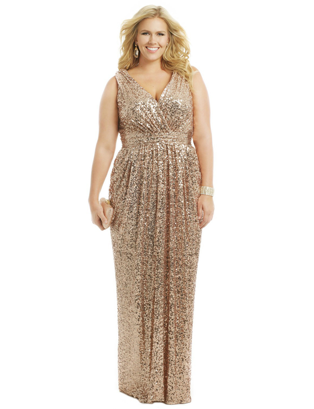 Popular Champagne Sequin Dress Plus Size-Buy Cheap Champagne ...