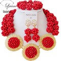 jewelry sets african bridal red opaque crystal nigerian wedding beads laanc AL041
