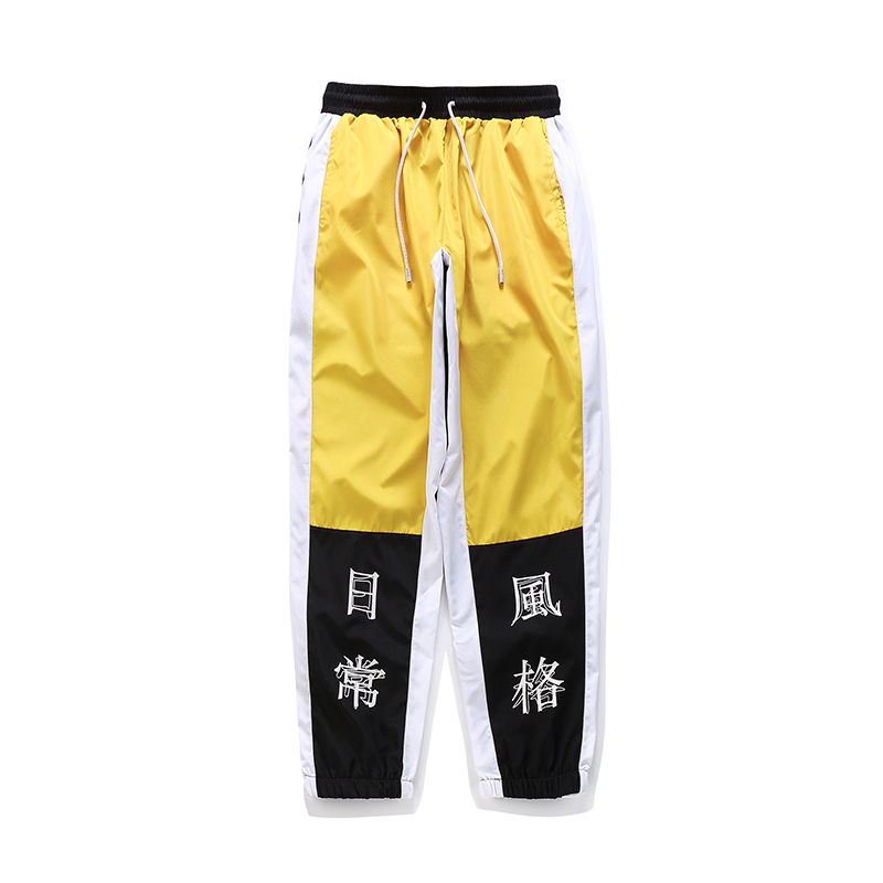 streetwear masculino casual joggers calças moletom