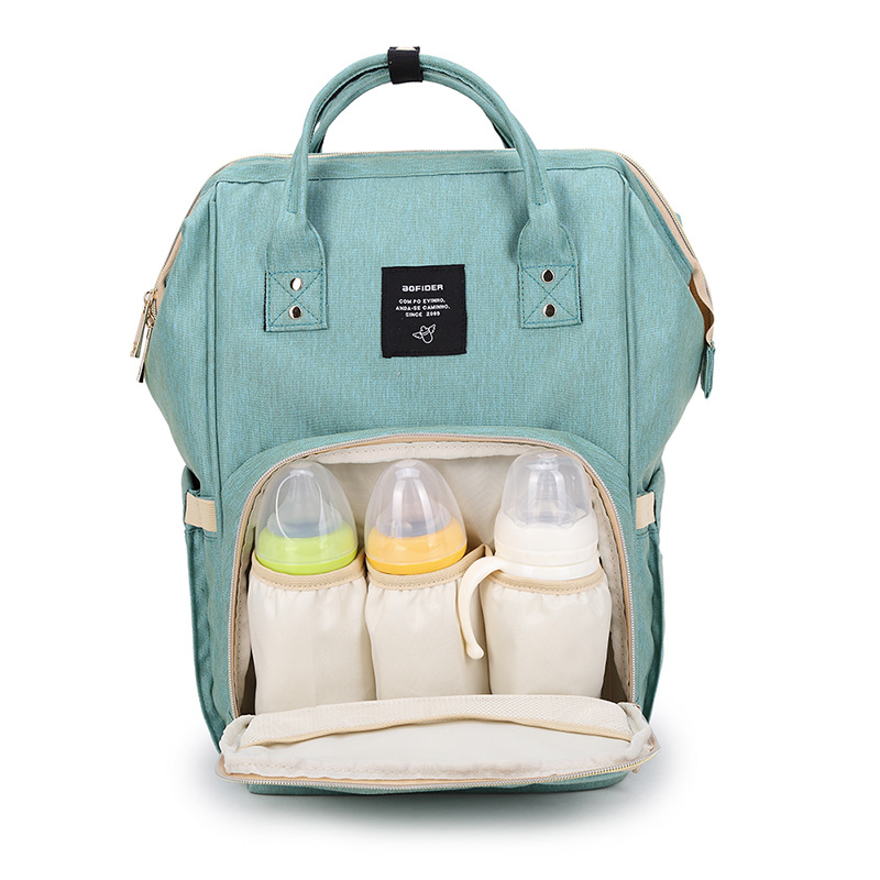 Moda Mummy Maternidad bolsa de pañales marca de gran capacidad de bebé bolsa de viaje mochila diseñador bolsa de enfermería para el cuidado del bebé