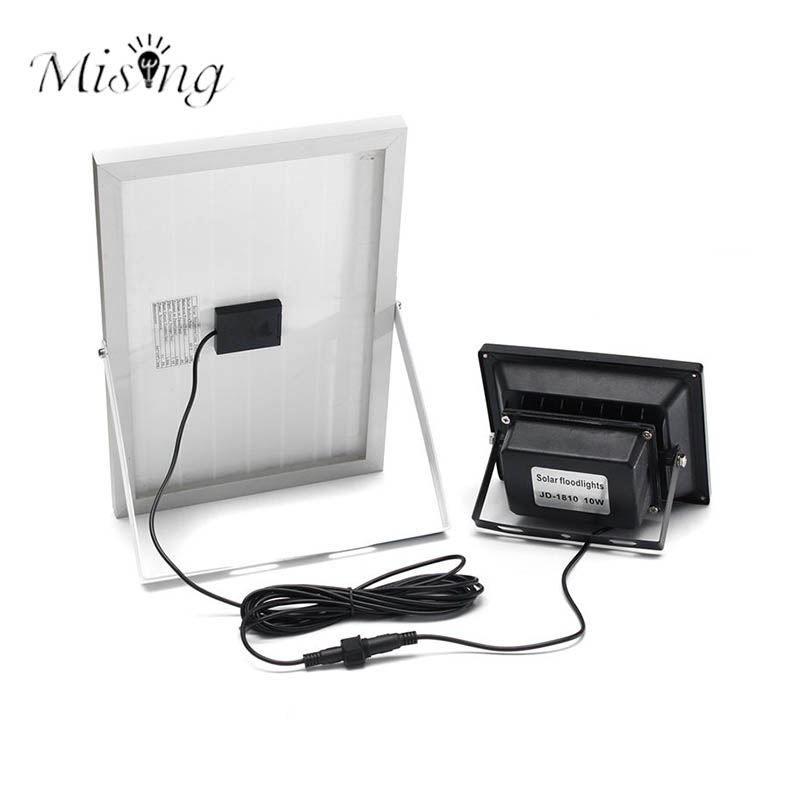 Mising 10W LED Solar Motion Sensor Floodlight Wireless Remote Control Solar Panel Lamp Waterproof Outdoor Emergency Lights ...