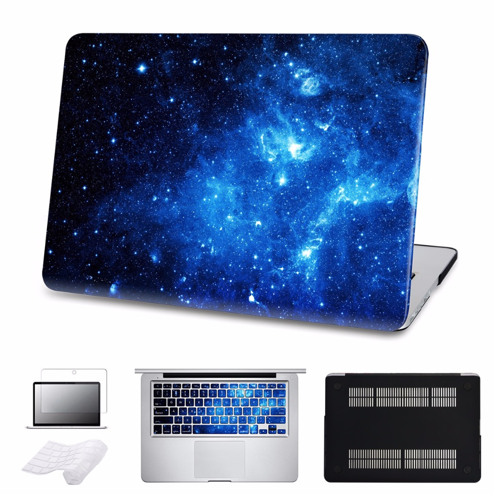5 in 1 Bundle Hard Case For Galaxy Macbook Air 13 A1466 With Keyboard Cover For MacBook Air Pro Retina 11 12 13 15 inch Laptop mosiso hard shell case for macbook air 11 inch a1370 a1465 laptop protective cover for macbook air 13 13 3 inch a1466 a1369
