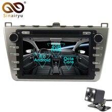 Sinairyu 2 Din Android 8.0 Octa Core Car DVD Player for Mazda 6 2008-2012 GPS Navigation Multimedia Radio Stereo Head Unit