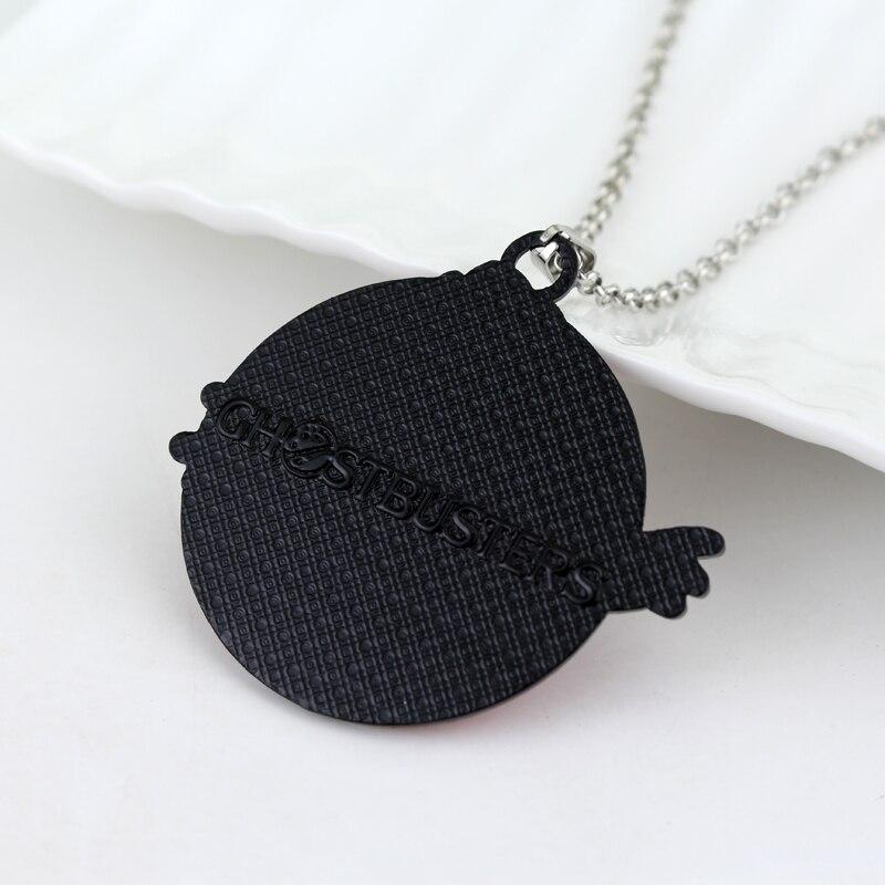 Ghostbusters Logo Necklaces Pendants Red White Enamel Ghost Kitsch Choker Necklace Women Men Jewelry