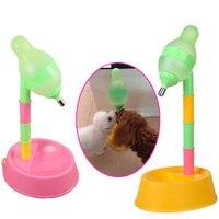 Adjustabl Mascotas Perro Alimentador Automático de Agua Potable Dispensador Botella de Plástico de Alimentos de Origen Animal Conejo Hámster de Alimentación Tazón Dish