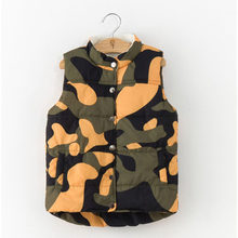 Brand Children Cotton Warm Vest Toddler Boys Girls Autumn Winter Coat Kids Vest Jackets Camouflage Waistcoats Outerwear Clothing(China)