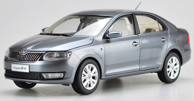 1:18 Diecast Model For Skoda Rapid 2014 Sedan Alloy Toy Car Miniature Collection Gitfs