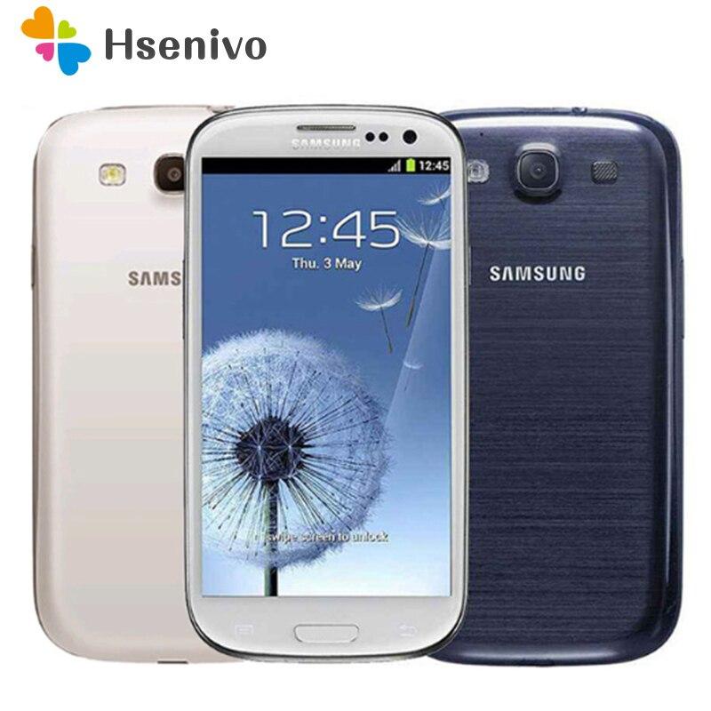 Desbloqueado Original Samsung Galaxy S3 i9300 telefone Celular Quad Core Câmera 8MP 3G Telefone NFC 4.8 ''Wifi GPS remodelado