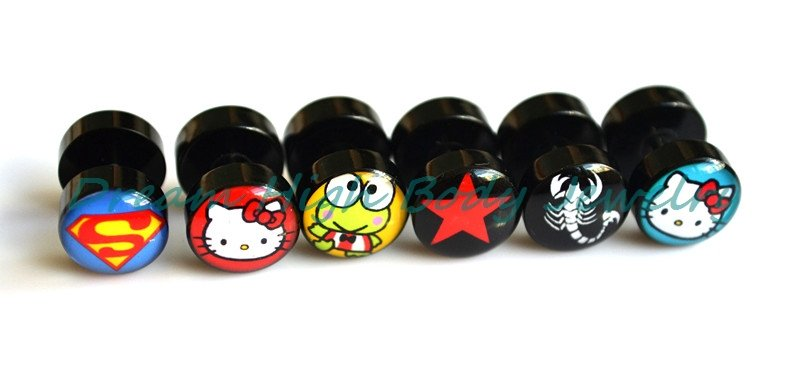 New Arrival Barbell Earring Stud Mixed Logos Hot SALE High quality customize child Mens Cute Ear Ring Fashion