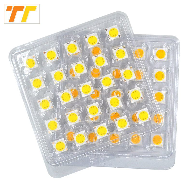 где купить 50pcs / 25pcs Lot LED COB chip lamp 5W LED Chip 220V 230V Input Smart IC integrated Driver for flood light no need driver to DIY дешево