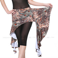 NEW! milk silk belly dance costumes senior sexy short printing belt for women hip scarf accessories