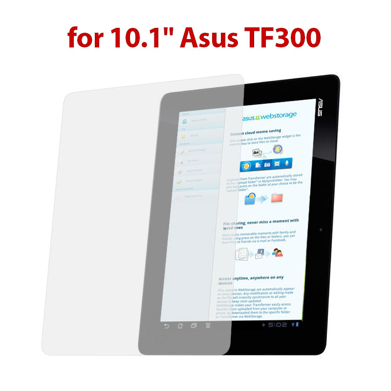 HD Clear LCD Screen Guard Shield Film Protector for 10.1 Asus TF300 Tablet PC