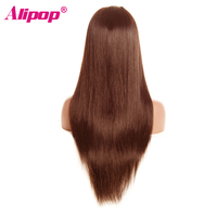 Light Brown Malaysian Straight Wig Lace Front Human Hair Wigs With Baby Hair Lace Front Wig Remy Hair #4 Pre Plucked Hairline