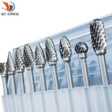 Milling-Cutter Burr Dremel-Tools Diamond-Cut Electric-Grinding Rotary Shank Carbide Tungsten