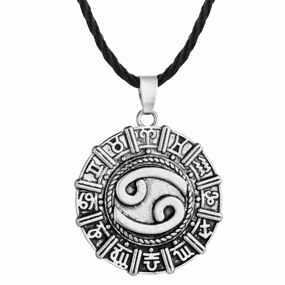Kinitial Karkat raka zodiaku konstelacji naszyjnik urodziny biżuteria astrologia horoskop zodiaku naszyjnik znak zodiaku runy wikingów