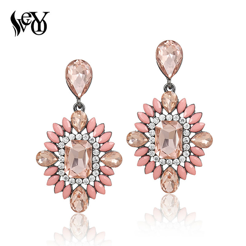 VEYO Acrylic Crystal Earrings For Women Vintage Earrings Classic High Quality Brincos Pendientes