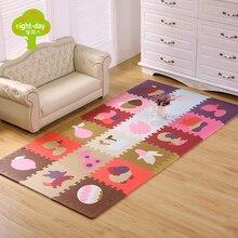 18pcs cartoon animal pattern carpet eva foam puzzle mats kid