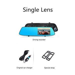 Image 5 - 5,0 pulgadas 1080 P HD coche DVR espejo con cámara de visión trasera visión nocturna Auto conducción grabadora de vídeo coche Dash cámara
