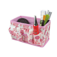 Folding Multifunction Cosmetic Storage Box Container Bag(Pink)