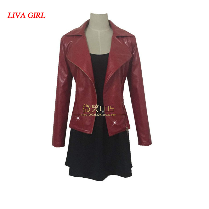 2017 Hot Avengers Age of Ultron Movie Scarlet Witch Cosplay Costume Women's Full Set Hallowmas Customized