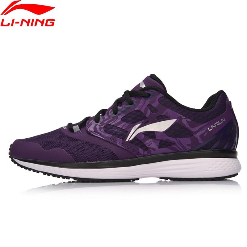 Li-ning femmes vitesse étoile coussin chaussures de course Textile respirant baskets EVA léger doublure chaussures de Sport ARHM032 XYP596